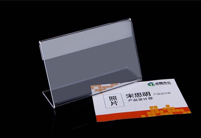 10x8 cm acrílico mesa de escritorio Tablet stands signo banner ...