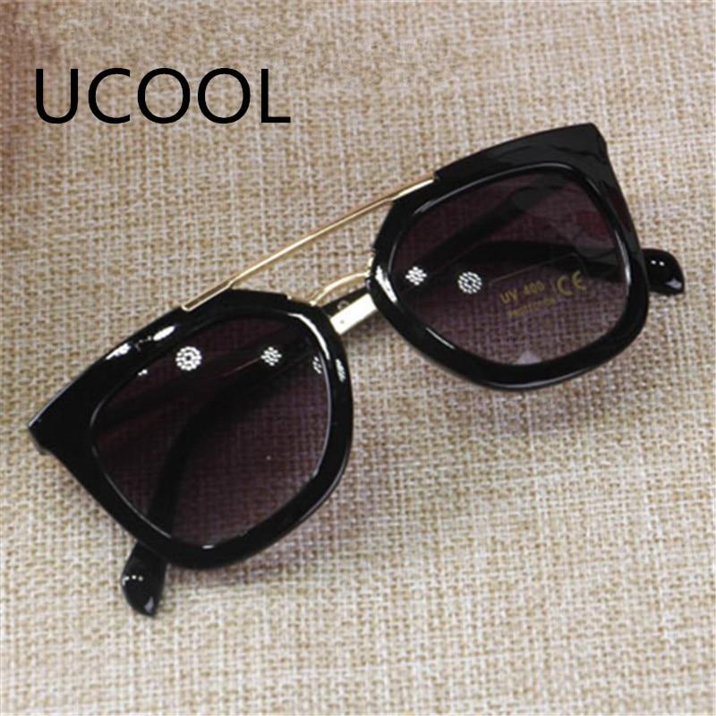 UCOOL Double-Frame besar kanak-kanak cermin mata hitam logam cermin - Aksesori pakaian