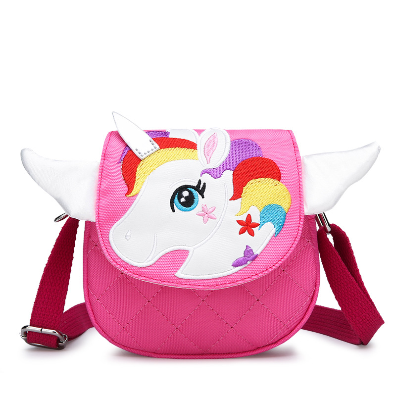My Little Pony New Kindergarten Baby Crossbody Bag Cute Embroidered Cartoon Unicorn Child Bag Mini Shoulder Bag
