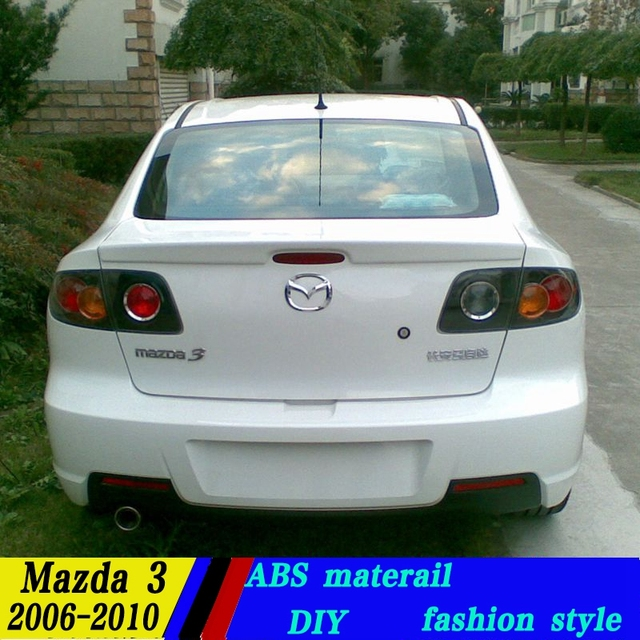 Use For Mazda 3 Spoiler 2006 2013 Mazda 3 Spoiler High Quality ABS Material Car Rear Wing Primer