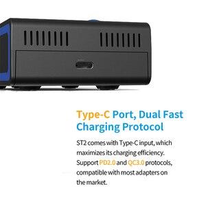 Image 5 - Szybka ładowarka XTAR ST2 30MIN pełna ładowarka USB typu C QC3.0 PD45II ładowarka ścienna 20700 21700 18650 ładowarka