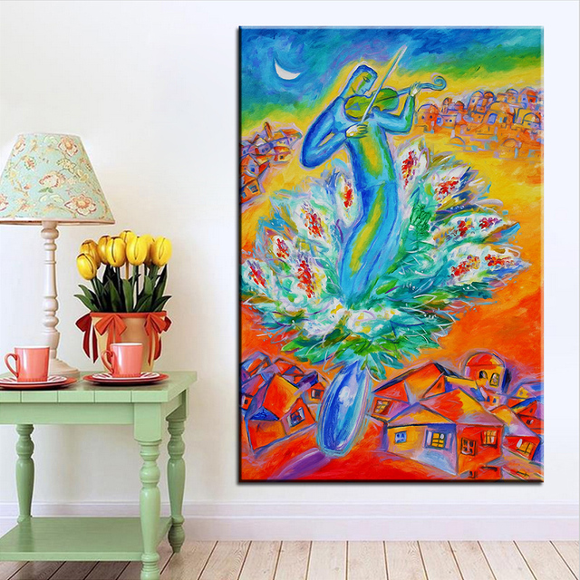 Large size Printing Oil Painting shabbat shalom Wall painting Home ...