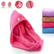 2016 New Towel Microfiber Magic Towel Quick-Dry Hair Towel Turban Hat Cap Hair Dryer Bath Salon Towels Women Hair Wraps