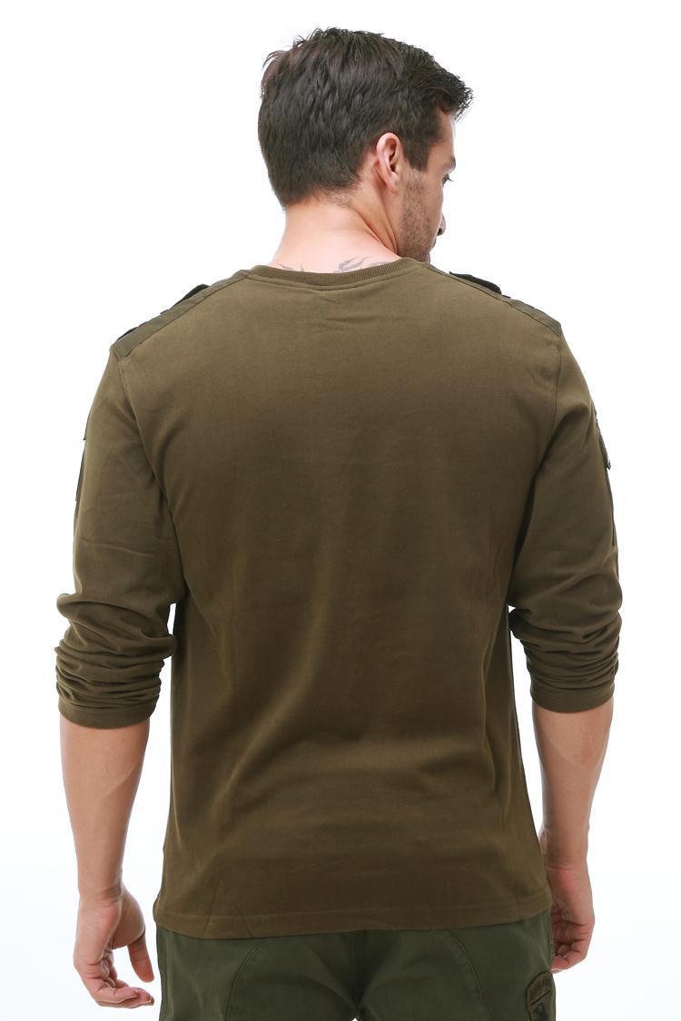 Армейский мужской военный комплект из США, красный, 10 октября, костюм с воздушным десантом, футболка с длинными рукавами, военный комплект, к... - 3