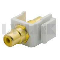 keystone RCA connector with yellow color