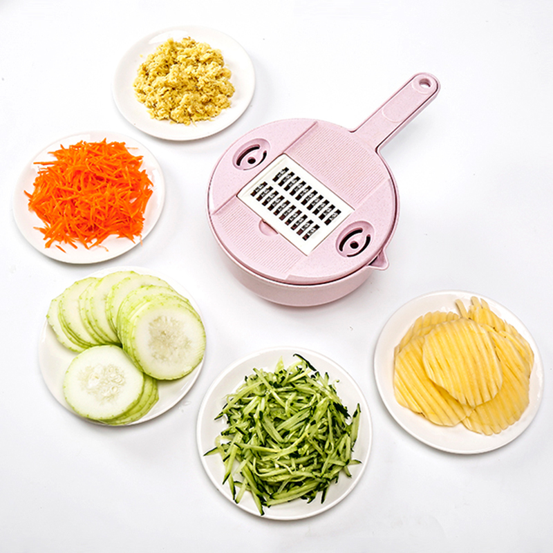 050 Kitchen accessory 8in1 Slicer knife Food Chooper Vegetable Cutter Peeler Slicer Grater kitchen tool 29 19 9 5cm in Graters from Home Garden