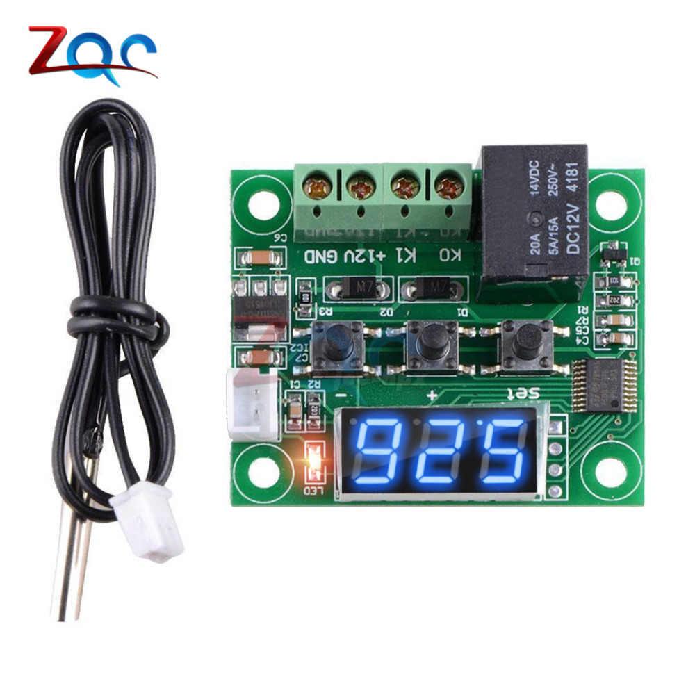 DC 12V W1209WK W1209 デジタルサーモスタット温度コントローラレギュレータ温度調節インキュベーター NTC センサーメーターケース