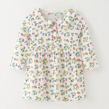 Little maven kids girls fashion brand autumn baby girls clothes draped dress Cotto toddler girl print dresses S0531