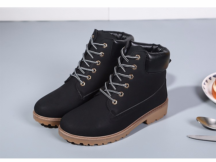 New Arrival Spring Autumn Boots Men PU Leather Unisex Style Fashion Male Work Shoes Lover Martin Boot 30