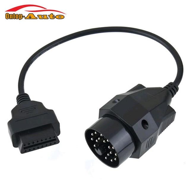 obdii obd2 runde diagnose stecker kabel scanner adapter. Black Bedroom Furniture Sets. Home Design Ideas