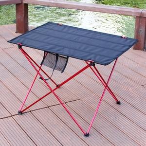 Image 2 - 캠핑 테이블 야외 foldable 어셈블리 diy 피크닉 책상 휴대용 안티 슬립 레저 여행 알루미늄 소재 접는 의자