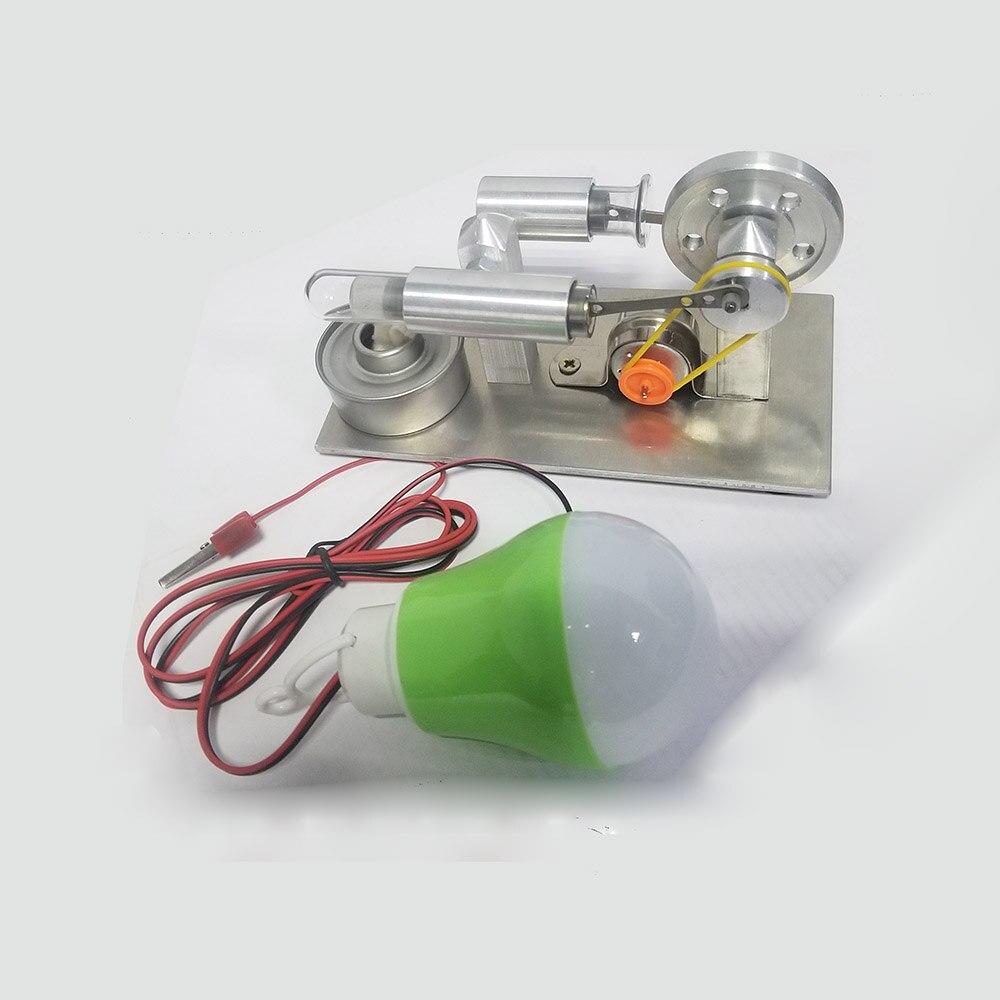 Mini Stirling motor Externe verbrennung motor Micro-generator geburtstag präsentieren Dampf motor modell Wissenschaft und bildung spielzeug