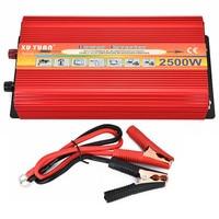 Portable Car Inverter DC 12V To AC 220V Rated Power 2500W Car Charger Power Inverter Supply Converter Adapter Modify Sine Wave