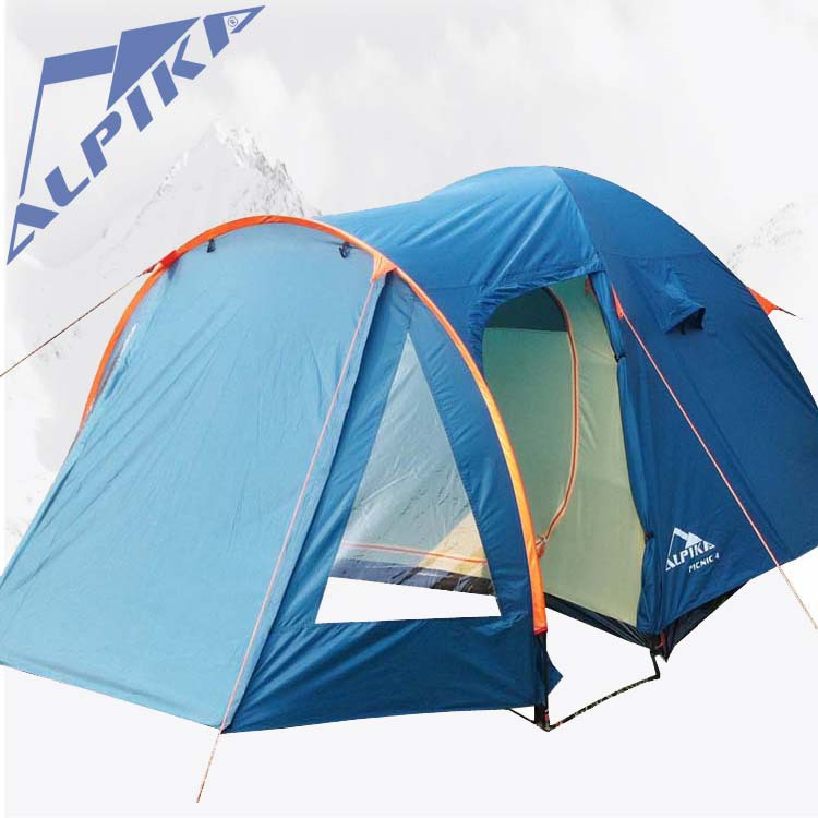 ALPIKA 4-5 persons 1 bedroom 1 living room anti rain wind proof party family fishing beach hiking traveling outdoor camping tent