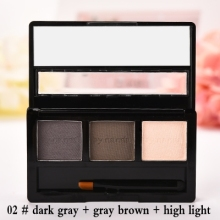 BY NANDA Professional No.02 Eye Brow Makeup Waterproof Glitter and Shimmer Eyebrow Powder Palette Eye Shadow Make Up Set Kit Bhs