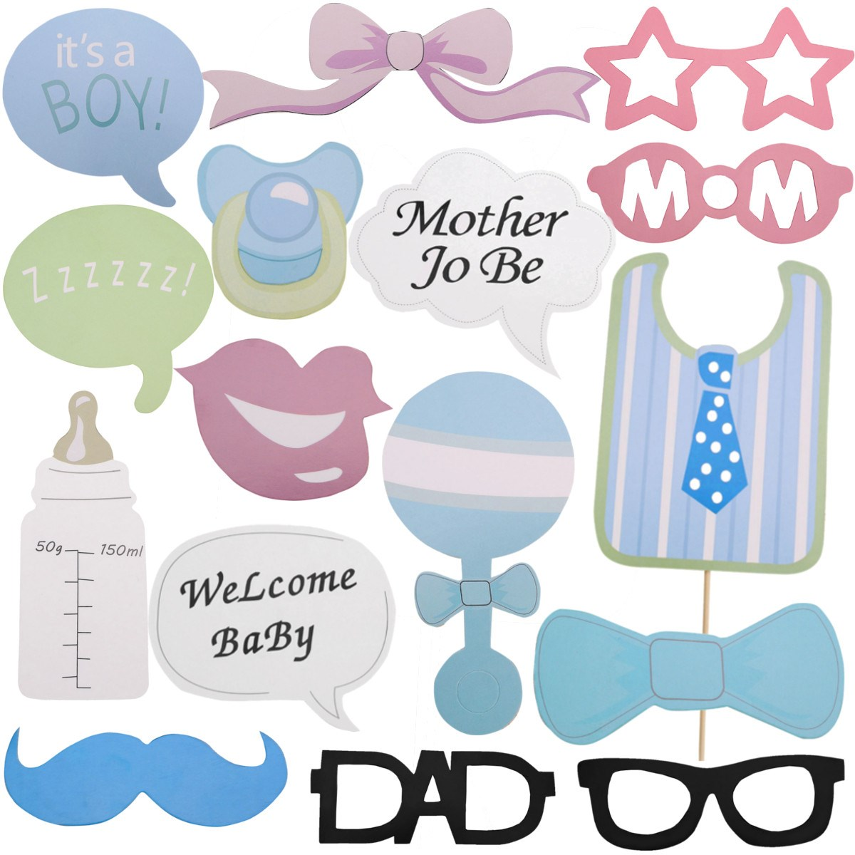 Buy baby shower photography decor tools for Baby shower decoration set