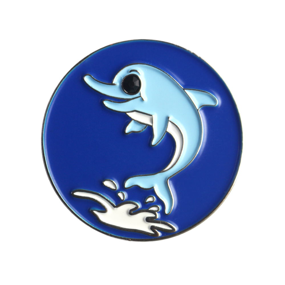 Blue Dolphin Golf Ball Marker- Golf Pitch Marking Tool- Golf Accessories- Ideal for Magnetic Hat Clip or Divot Tool