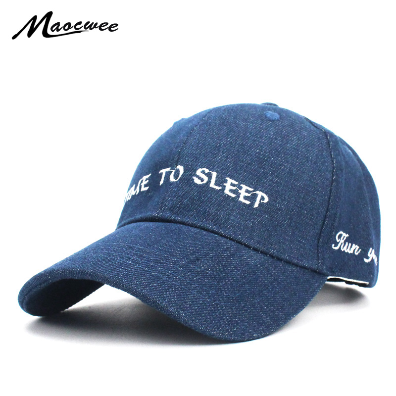 New Girl Boy Letter Embroidery Time to Sleep Children Baseball Cap Hat Kids Adjustable S ...
