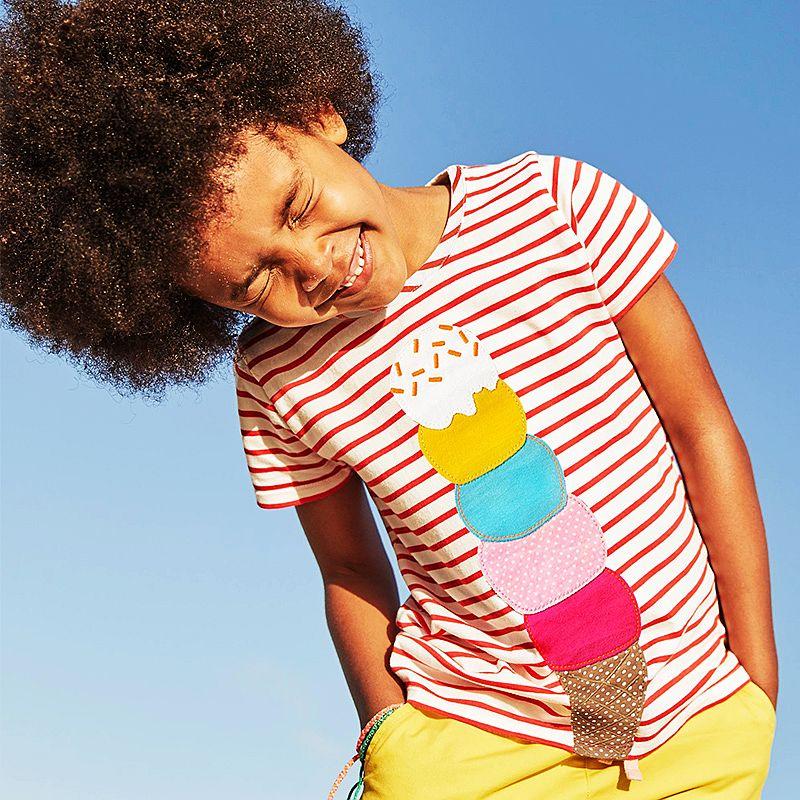 Kidsalon Kids Clothes 2018 Summer Cotton Children T-shirt Cartoon Patterns Baby Girl Clothes Fashion Short Sleeve girls t shirt