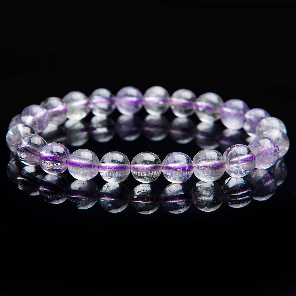 7mm Transparent Round Crystal Bead Bracelet For Women Genuine Natural Kunzite Gems Stone Charm Stretch Bracelet Femme Just One 7mm transparent round crystal bead bracelet for women genuine natural kunzite gems stone charm stretch bracelet femme just one