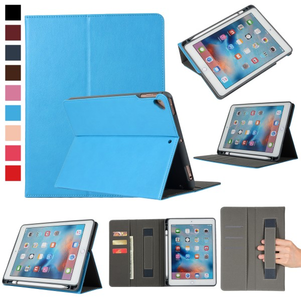 official photos 4c2c0 2aa12 US $14.8 20% OFF|Premium Leather Smart Pencil Holder Cover Case for Apple  iPad 9.7 2018 2017 5th 6 6th Generation for iPad Pro 9.7 Air 1 Air 2-in ...