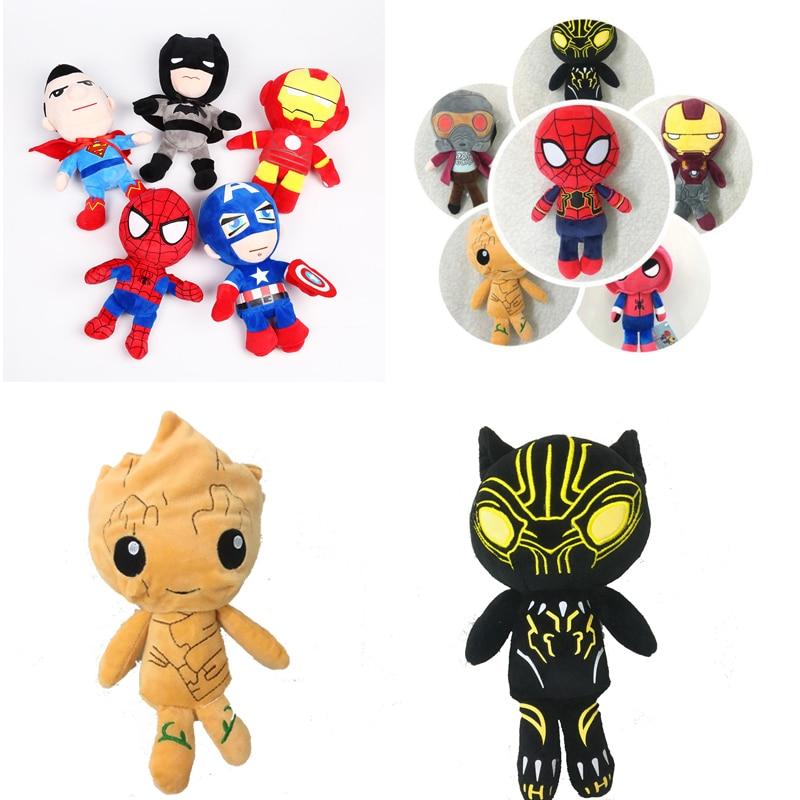 Avengers Marvel 3 Infinity War Figures Plush Toys Guardians of Galaxy Rocket Plush Doll Black Panther Iron man Spider man Toys