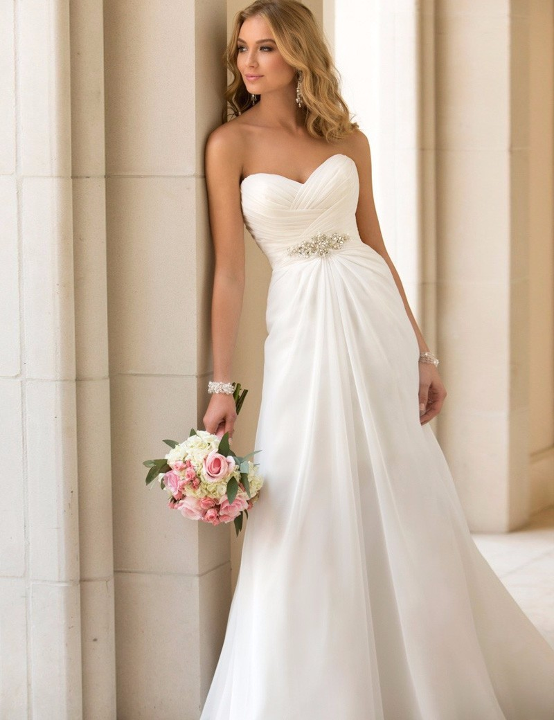 Buy 2016 summer chiffon beach wedding for Cheap chiffon wedding dresses