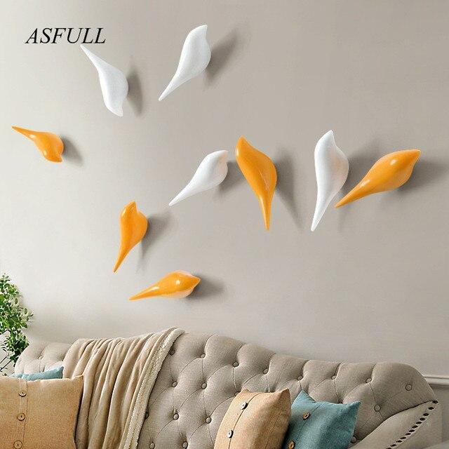 ASFULL Creativi ganci da parete uccello della decorazione Della ...