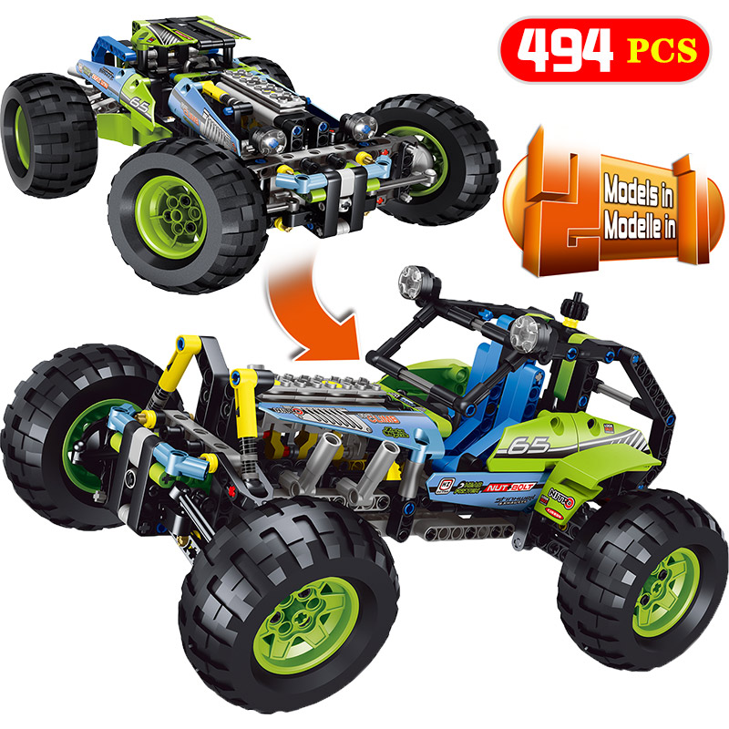 цена New Technic Series LegoINGLYS Technology SUV Off-road Car Model Blocks Sets DIY Bricks Designer Toys For Children