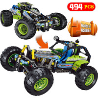 New Technic Series LegoINGLYS Technology SUV Off road Car Model Blocks Sets DIY Bricks Designer Toys For Children