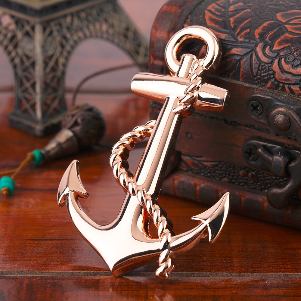 New Black/Silver/Gold Top Quality Boat Anchor Solid Zinc Alloy Car Styling Emblem 3D Sticker Cool Exterior Hot Selling image