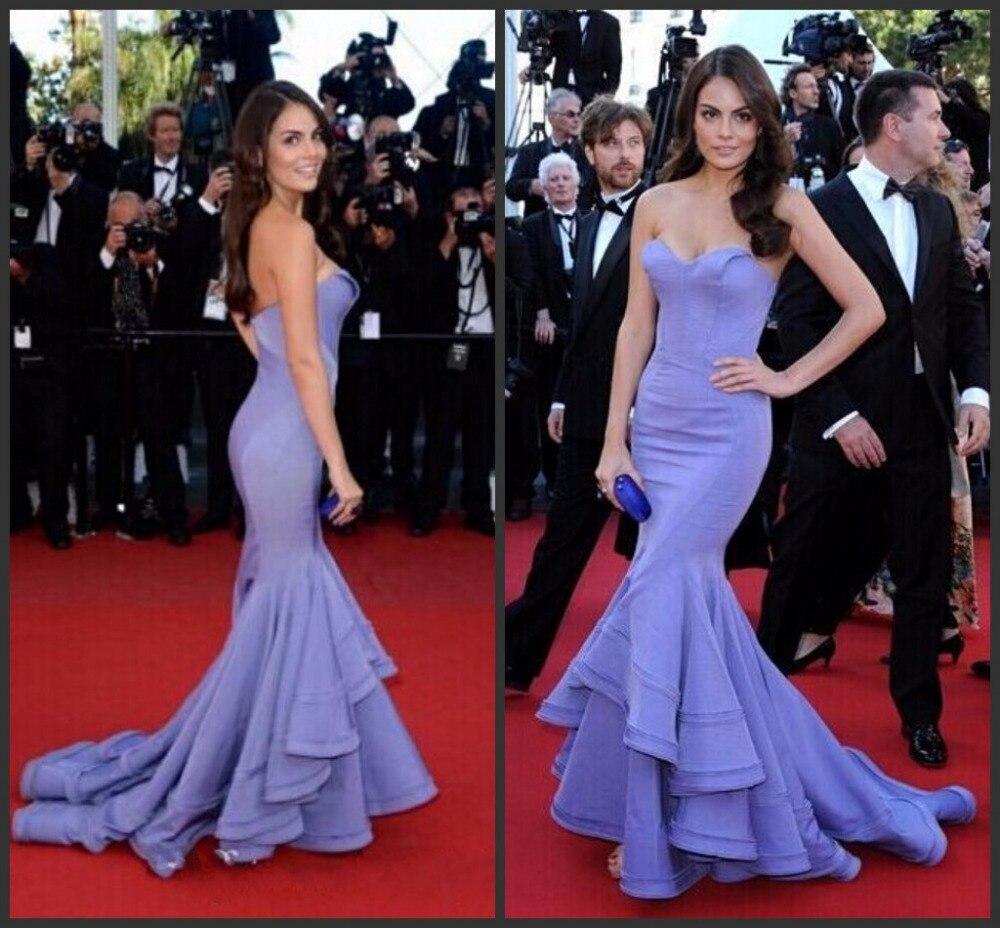 robe de soiree 2015 Lavender fashion 2015 Mermaid red carpet ...