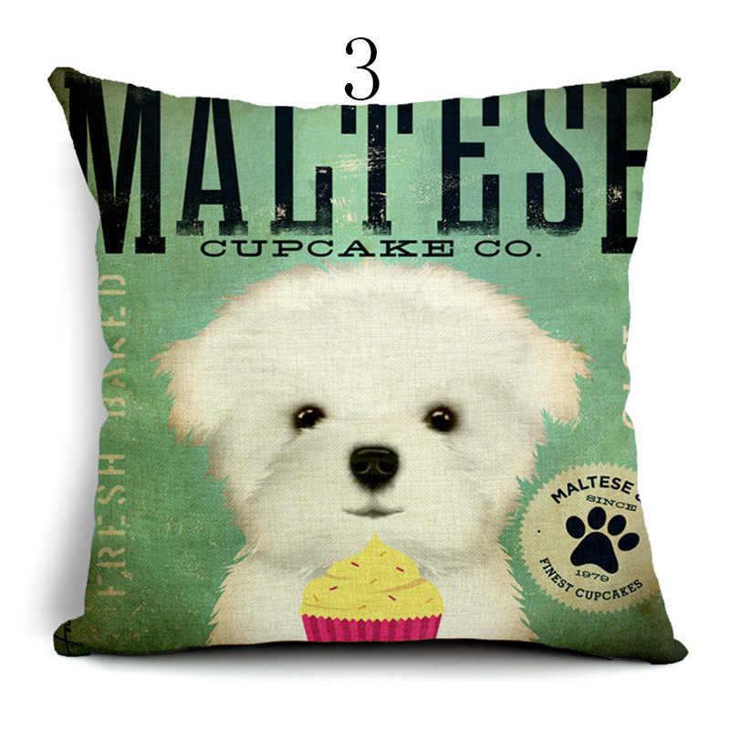 คุณภาพสูงน่ารักน่ารัก Golden dog Cushion cover ปลอกหมอนปลอกหมอนปลอกหมอนปลอกหมอนเย็บปักถักร้อยหมอนโซฟาตกแต่ง almofadas
