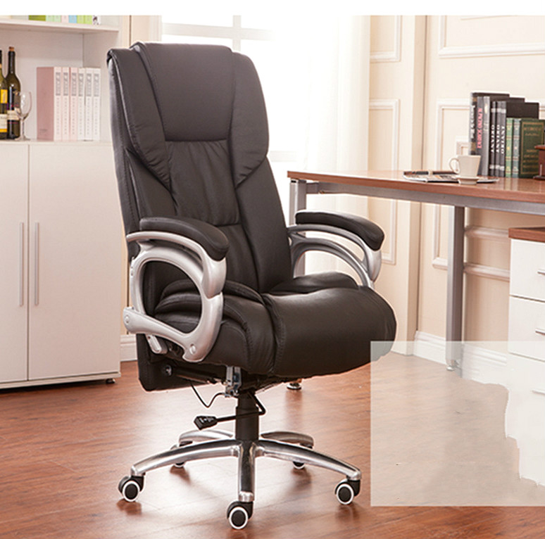 High quality office computer chair comfortable reclining chair boss multifunctional household electric chair ergonomic chair 240311 high quality pu leather computer chair stereo thicker cushion household office chair steel handrails