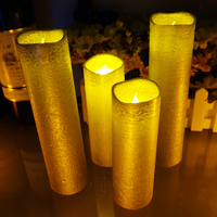 2Pcs Flickering Flameless Remote Control LED Candle Scented Bougie Velas Votive Candles Electric Home Wedding Decoration