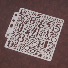 special Number Letters Sticker Painting Stencils for Diy Scrapbooking Stamps Home Decor Paper Card Template Decoration Album