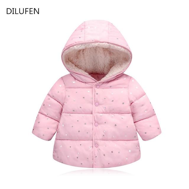 bdb221cb9 Ropa de abrigo para niños niño y niña invierno cálido Abrigo con capucha  2018 chaquetas con