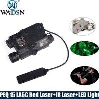 EMS/DHL страйкбол LA 5 красный лазер ИК лазерный светодиодный фонарь UHP внешний вид ИК лазер PEQ 15 LA5C красный лазер тактическое оружие Свет EX396