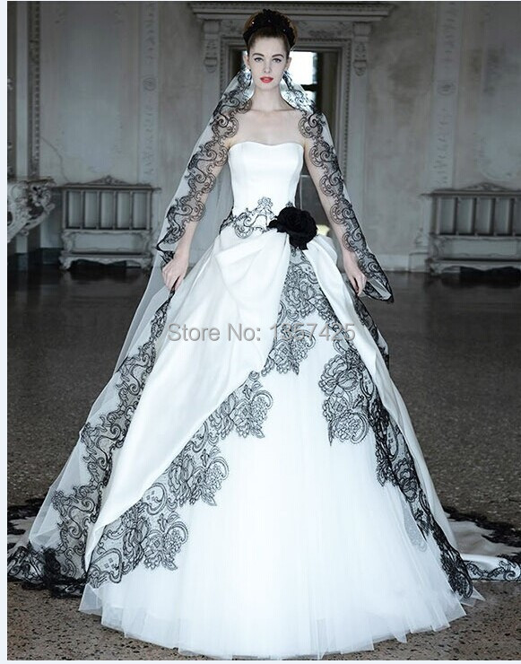 Black And White Wedding Veils