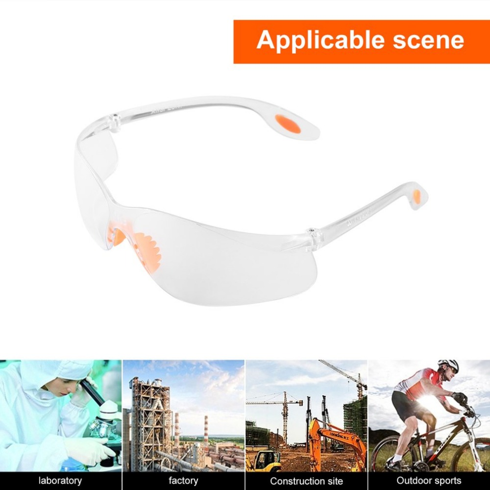 все цены на Safety Glasses Protective Motorcycle Goggles Dust Wind Splash Proof Lab Goggles Light Weight High Strength Impact Resistance