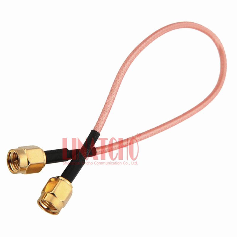 20cm Coaxial Rg316 Teflon Pigtail Rp Sma Male To Sma Male Wifi Repeater Antenna Jumper Cable