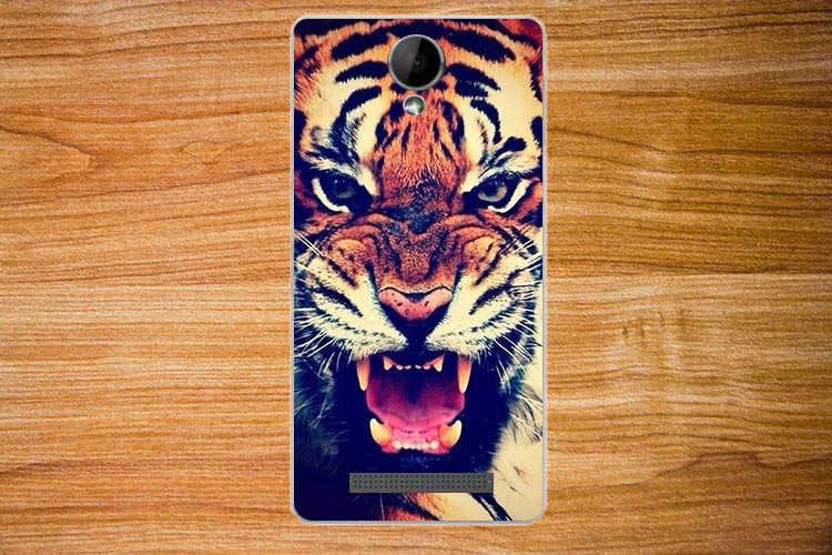 Wysokiej jakości Diy obraz uv kolorowy tygrys sowa róża miękkie etui tpu dla highscreen zera f rev. s okładka silikonowe torby telefon Sheer
