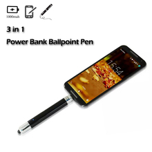 2017 Nouvelle Arrivée 650 mAh Stylo À Bille Powerbank banque D'alimentation de Secours Portable Mobile Téléphone Chargeur Powerbank Pour iPhone 7 6 6 s