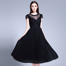 2017 Plus Size L-5XL Summer Dress Sexy Evening Party Womens Hollow Clothing Beach Club Ladies Ukraine Dresses Black Streetwear
