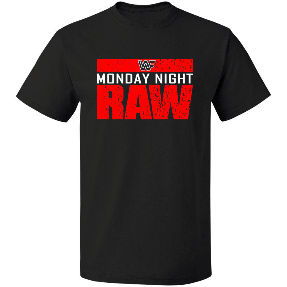Monday Night Raw Is War WWF Logo Tshirt FREE SHIPPING T-SHIRT S - 3XL Sleeve T Shirt Summer Men Tee Tops Clothing(China)