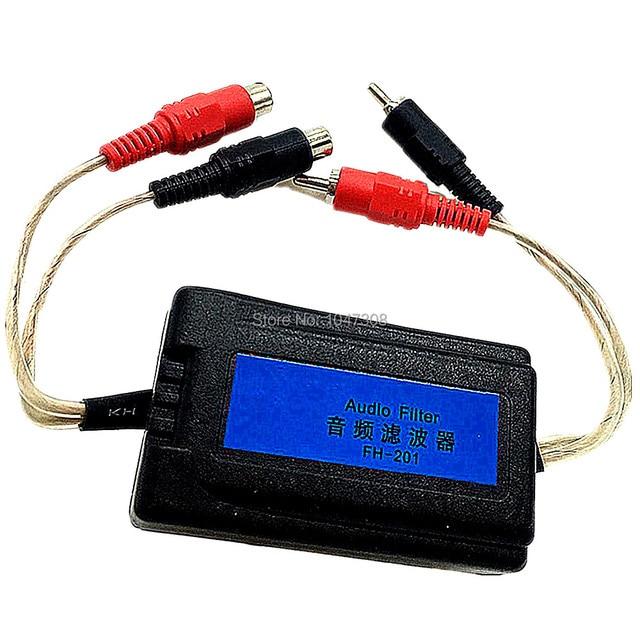 Best Price Auto Ground Loop Isolator 3.5mm Audio Jacks Audio Stereo Noise Suppressor Filter 3.5mm Car RCA Amplifier Audio Noise Filter