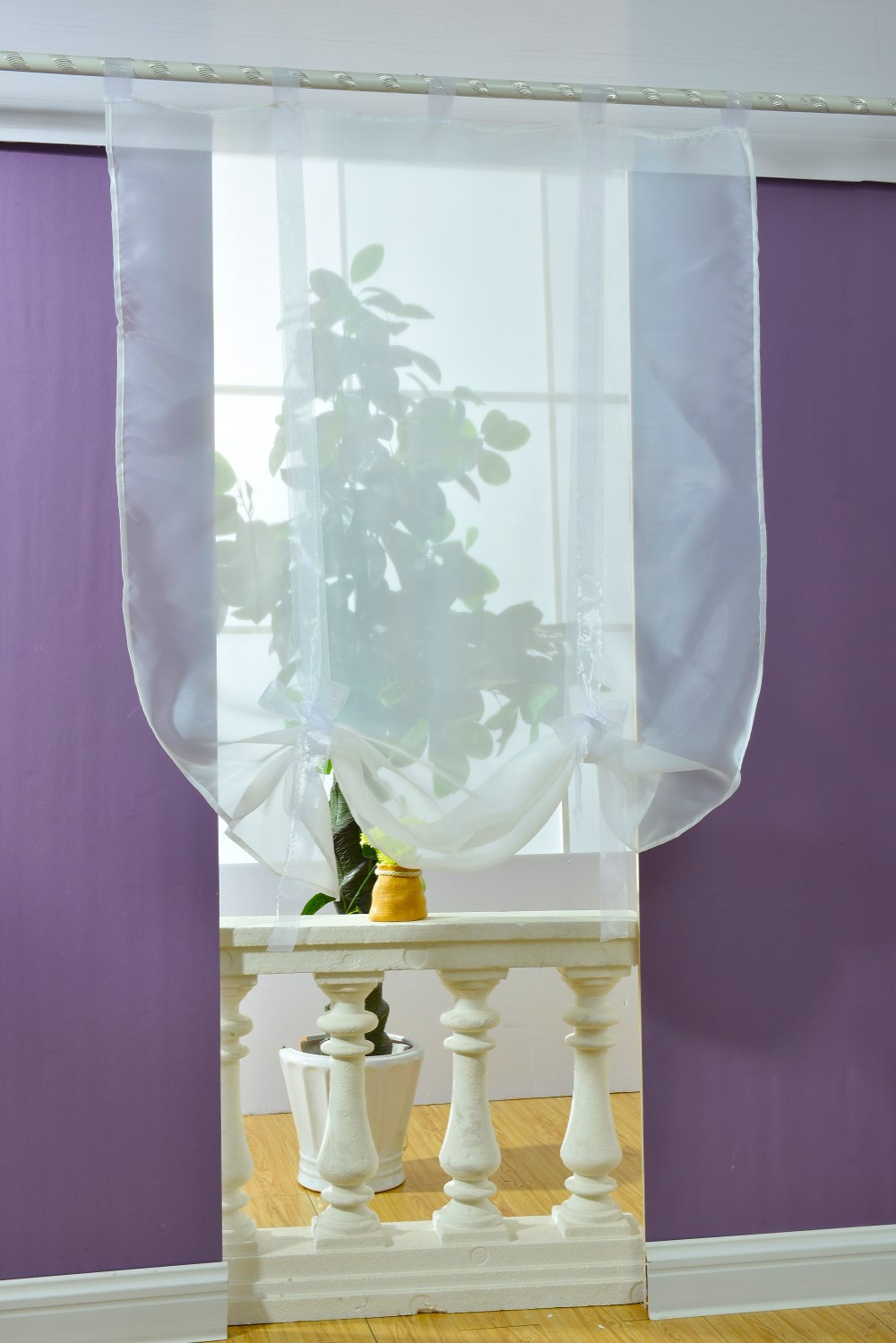 2018 roller blind tulle curtains tulle Sheers kitchen curtains ...