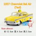 KINSMART Modelos de Fundición de Metales/1:40 Scale/1957 Chevrolet Bel Air (Taxi)/juguetes para los niños de regalos/para colecciones