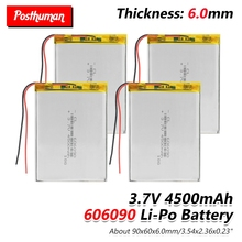 606090 3.7V 4500mAh Lipo li-ion Lithium Battery Replacement Li-Po Li-polymer For Tablet DVD E-book