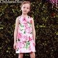 Niño Vestidos de Flores Niña 2017 Estilo de los Bebés Visten Princesa Lolita Traje Vestido Menina Niños Ropa para Niños 2-10Y